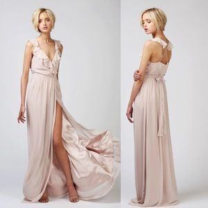 Ceremony by Joanna August Lacey Wrap Dress Long XS